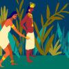 Indígenas jugando tejo