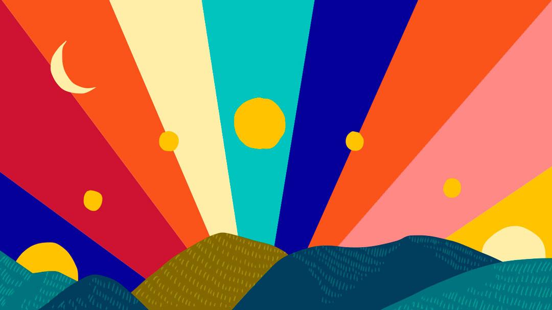 Metáfora del tejo con el sol