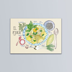 Postal ilustrada de El Ajiaco
