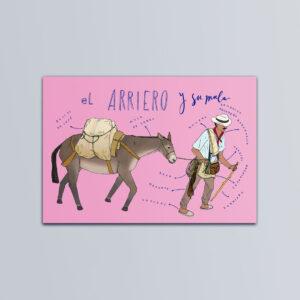Postal El arriero y su mula