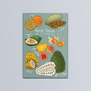 Postal Frutas Típicas de Colombia