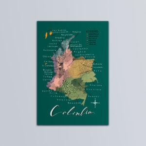Postal Mapa de Colombia