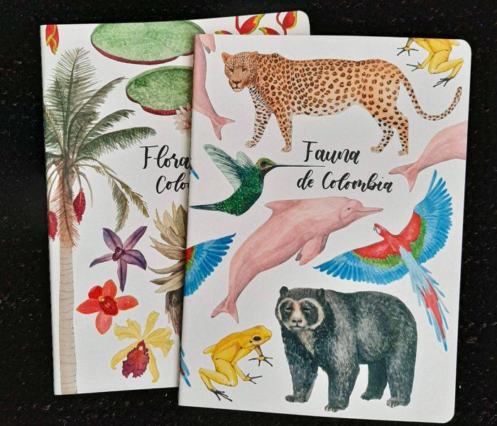 Cuadernos ilustrados de fauna y flora colombiana